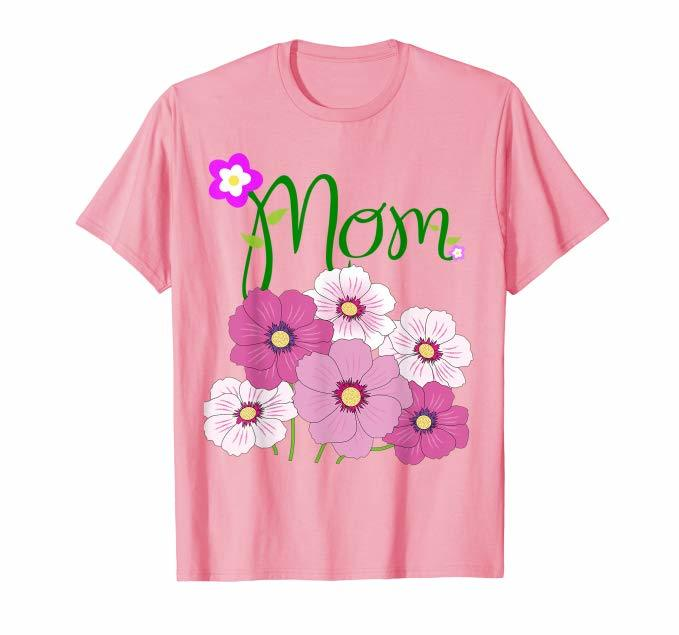 Flowery Mom T-Shirt