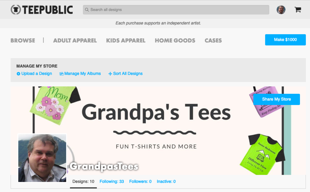 Grandpa's Tees on TeePublic